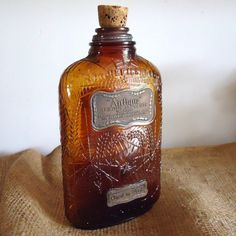 rare antique 1913 spooky Halloween glass bottle antique bottle by RaggedyRee, $40.00