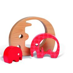 wooden elephant toys for kids Wooden Baby Toys, Wood Toys, Wooden Crafts, Wooden Diy, Woodworking For Kids, Woodworking Projects, Wooden Elephant, Wooden Animals, Wooden Puzzles