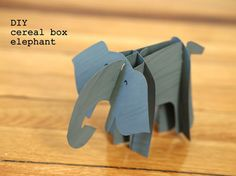 DIY Cereal Box Elephants