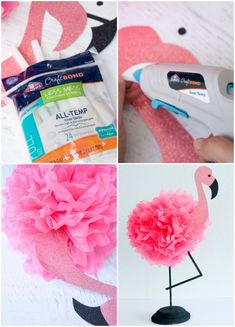 DIY flamencos para centros de mesa Flamingo Party, Flamingo Rosa, Flamingo Craft, Flamingo Birthday, Hawaii Birthday Party, Aloha Party, Hawaiian Birthday, Watermelon Birthday, Luau Party Decorations