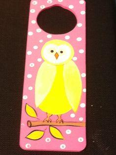 Kids craft owl door hanger