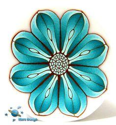 Turquoise flower cane   Flickr - Photo Sharing!