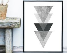 Geometric Art Printable Art Hexagon Print Geometric by exileprints Art Minimaliste, Black And White Posters, Triangle Print, Minimal Decor, Scandinavian Art, Art Mural, Minimalist Art, Modern Wall Art, Geometric Art