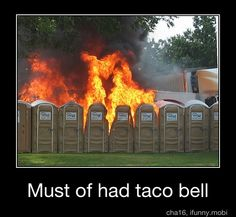 this is exactly why i do not eat taco bell. very dangerous in parks.