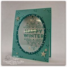 Be Creative with Nicole: Holiday Collection Week 4 Blog Hop! Window card made with Wintertime single stamp.