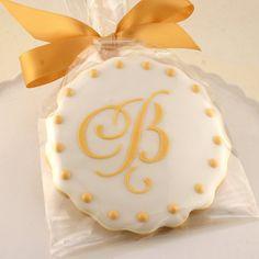 Monogrammed Cookies for Wedding, Anniversary, Birthday Party - 1 Dozen Decorated Sugar Cookies