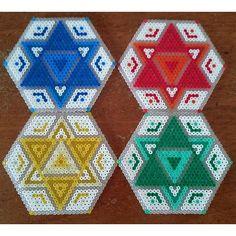 Coaster set hama beads by  cherry_bits