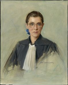 Ruth Bader Ginsburg - 1997 portrait by Everett Raymond Kinstler, in the Smithsonian's National Portrait Gallery Ruth Bader Ginsburg Quotes, Political Images, Justice Ruth Bader Ginsburg, Ted Kennedy, Have Courage And Be Kind, Supreme Court Justices, Oil Portrait, Portrait Paintings, National Portrait Gallery