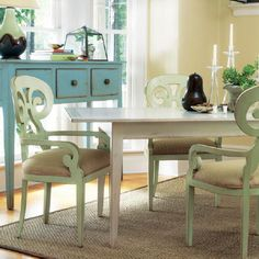 Color re-invents your furniture!  Don't be afraid to paint! Paint! Paint!