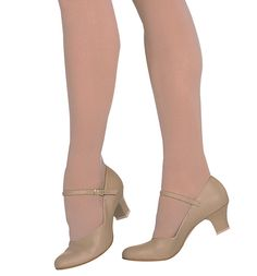 Dance shoes.  Low heel, come in black also.