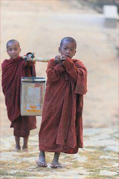 Burma, carrying water