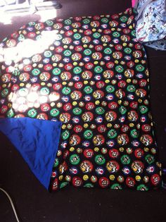 10 lb  Mario weighted blanket by Lovebugscrafty on Etsy