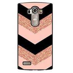 Pink Glitter Chevron Phonecase Cover Case For LG G3 LG G4