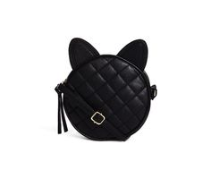 Buy ASOS Quilt Cross Body Bag With Cat Ears at ASOS. Get the latest trends with ASOS now. Asos, Karl Lagerfeld, Diane Von Furstenberg, Jogging, Cat Bag, Cat Purse, Cute Black Cats, Across Body Bag, Zadig