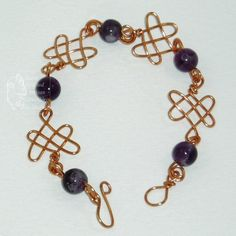 Amethyst and Copper Wire Bracelet. This piece has now been Sold. Do get in touch for Commissions and bespoke orders.