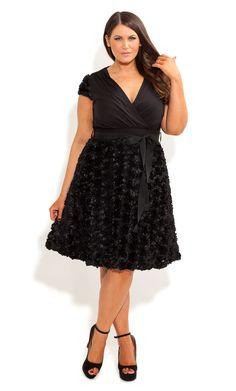 City Chic - PETAL POSEY WRAP DRESS - Women's plus size fashion
