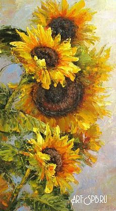 sunflowers Sunflower Canvas Paintings, Oil Painting Flowers, Watercolor Flowers, Watercolor Paintings, Sunflower Pictures, Sunflower Art, Art Floral, Canvas Art Projects, Pictures To Paint