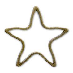 Intercalaires étoile 10 mm bronze x10