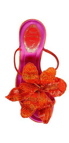 René Caovilla. Chaussures. Orange et rose | Shoes. Orange and pink