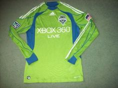 fd117b870 2009 Seattle Sounders L s Adidas Formotion Player Issue Adults Small  Football Shirt Top Soccer Jersey