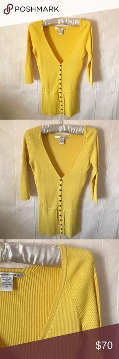 NWT Ann Taylor Open Silk Cotton Cropped Cardigan Sweater Sunrise Peach $60 NEW