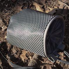 Carbon fiber like black nylon chalk bag  #metachalkbag #uniquechalkbag #coolchalkbag #chalkbag #carbonfiber #climbinggift