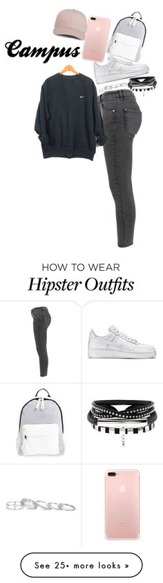 """""""Missing Campus"""" by smokeylovebae on Polyvore featuring Miss Selfridge, NIKE, Poverty Flats and Kendra Scott"""