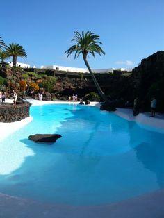 Cesar Manrique`s swimming pool, Lanzarote, Amazing.