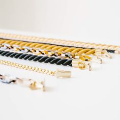 take your pick! sunglasses chains or cords for Memorial Day! free shipping! eyewear // vacation // holiday // travel // gold // tortoise // ivory // twisted cord