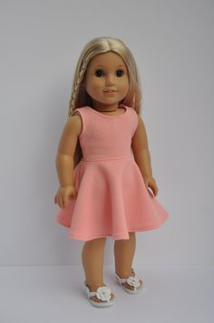 Coral Sleeveless Skater Dress made to fit by CircleCSewing on Etsy