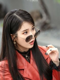 IU's Chanel Leather Coat Who can resist IU's vintage Chanel double breasted coat? Kpop Girl Groups, Kpop Girls, Wallpaper Moon, Korean Girl, Asian Girl, Snsd Yuri, Luna Fashion, Korean Celebrities, Korean Actresses