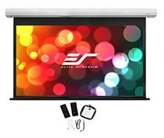 Elite Screens Spectrum, Diag Electric Motorized Ready Drop Down Home Theater Projector Screen, Diagonal, Aspect Ratio. View Size: H x W. General Size: H x W. Ultra HD and Active Projection Best Offer Pull Up, Vmax, 8k Ultra Hd, Outdoor Movie Screen, Screen Material, Pvc Material, Glass Material, Projection Screen, Black