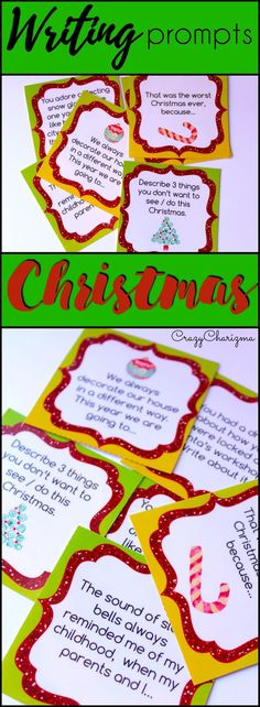 Celebrate Christmas in you classroom and engage students with writing. These writing prompts are easy to prepare and you'll be able to use them every year! How fun!   The task cards can be used as Writing Centers in middle school. Go ahead and use them with adults during ESL lessons as well. | CrazyCharizma @ https://www.teacherspayteachers.com/Store/Crazycharizma