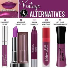 #VINTAGE ALTERNATIVES BY @anastasiabeverlyhills 🍇 I tried to include more…