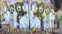 SPRAY PAINTING Two BEATLES Graffiti PAINTINGS - The Art Of Stephen Quick