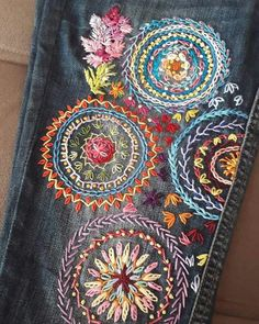 Newest Free Embroidery Popular I love Jeans ! And even more I like to sew my own Jeans. Next Jeans Se Newest Free Embroidery Popular I love Jeans ! And even more I like to sew my own Jeans. Next Jeans Sew Along I'm likely to show Hand Embroidery Stitches, Crewel Embroidery, Hand Embroidery Designs, Cross Stitch Embroidery, Embroidery On Jeans, Embroidery Supplies, Broderie Simple, Crazy Quilting, Crazy Quilt Stitches
