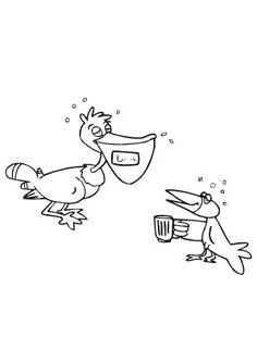 ausmalbild vogel langer schritt zum ausmalen. ausmalbilder | ausmalbildervögel | malvorlagen