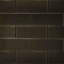 x Glass Subway Tile in Dark Chocolate Glass Subway Tile, Tile Floor, Flooring, Wall Tile, Chocolate, Shopping, Collection, Dark, Tile Flooring