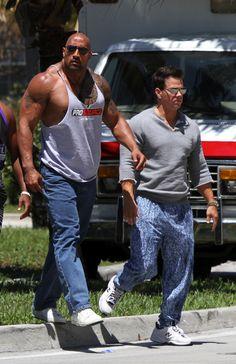 ROCK STATUS. Dwayne Johnson x Mark Wahlberg