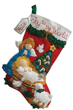 Nativity Baby Bucilla Christmas Stocking Kit