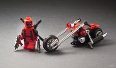 ...and The Bloody Mary.  This isn't so much about the bikes, but about a couple of  minifigs which I absolutely love. Check also Wolverine and The Claw