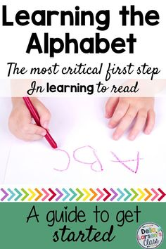 Teaching our kindergarten students the alphabet is at the core of every kindergarten curriculum. Having firm foundation in letter knowledge is the best predictor of reading success. Teaching The Alphabet, Alphabet Activities, Teacher Blogs, Teacher Quotes, Kindergarten Reading, Kindergarten Classroom, Literacy Stations, Learning To Write, Teacher Favorite Things