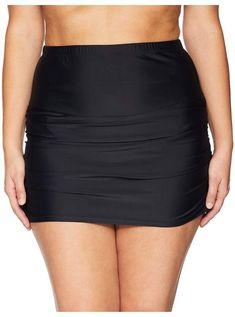 LookbookStore Womens Casual Mesh Panel Skirted Bikini Bottom Swim Skirt Swimsuit