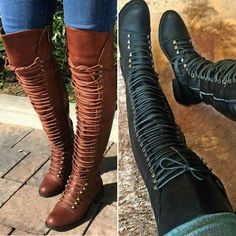 Thigh High Combat Boots
