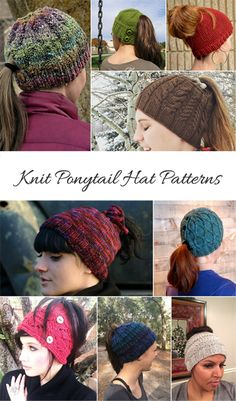 84f73e72662 12 Best Knit Hat With Ponytail Hole images in 2017 | Ponytail hat ...