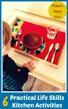 These practical life skills kitchen activities are part of the 12 Months of Montessori Learning series brought to you by ten amazing Montessori bloggers!