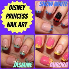 Pretty As A Princess: Disney Nail Art Ideas #Disney #princess #wedding #nails