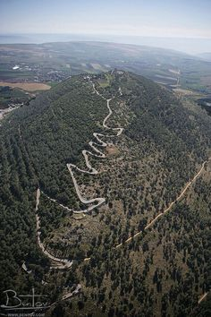 The road up Mt. Tabor is so narrow and crooked, that traffic is closed to use by vehicles other than official shuttles.