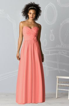 Romantic Sweetheart Zipper Column Floor Length Chiffon Bridesmaid Dress  - ninedresses.com