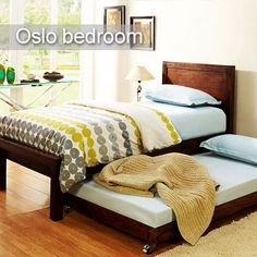 #Oslo Bedroom #Furniture Simple and Practical Furniture for your space starved rooms.  Enjoy your sweet dream on this extremely comfortable bed. To buy Oslo Furniture click - http://www.inliving.com/wooden-furniture/bedroom/oslo